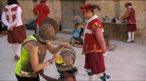Polishing antique suits of armour...because every other Maltese person knows the burden of polishing Brass