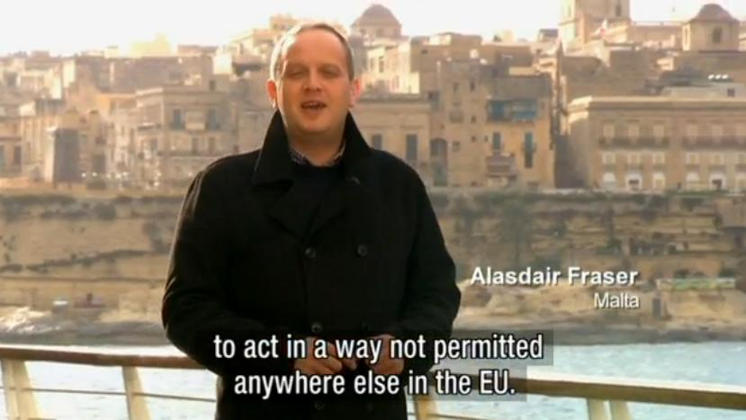 Alasdair Fraser travels to Malta to cover the Spring hunting referendum for the BBC ALBA program,e