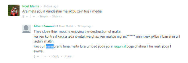 Comments reproduced under a Newsbook article.