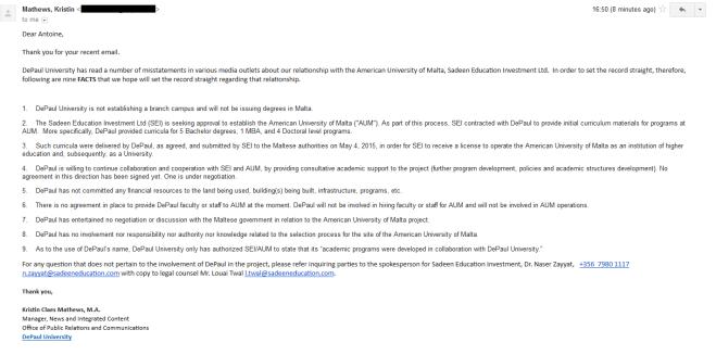DePaul email