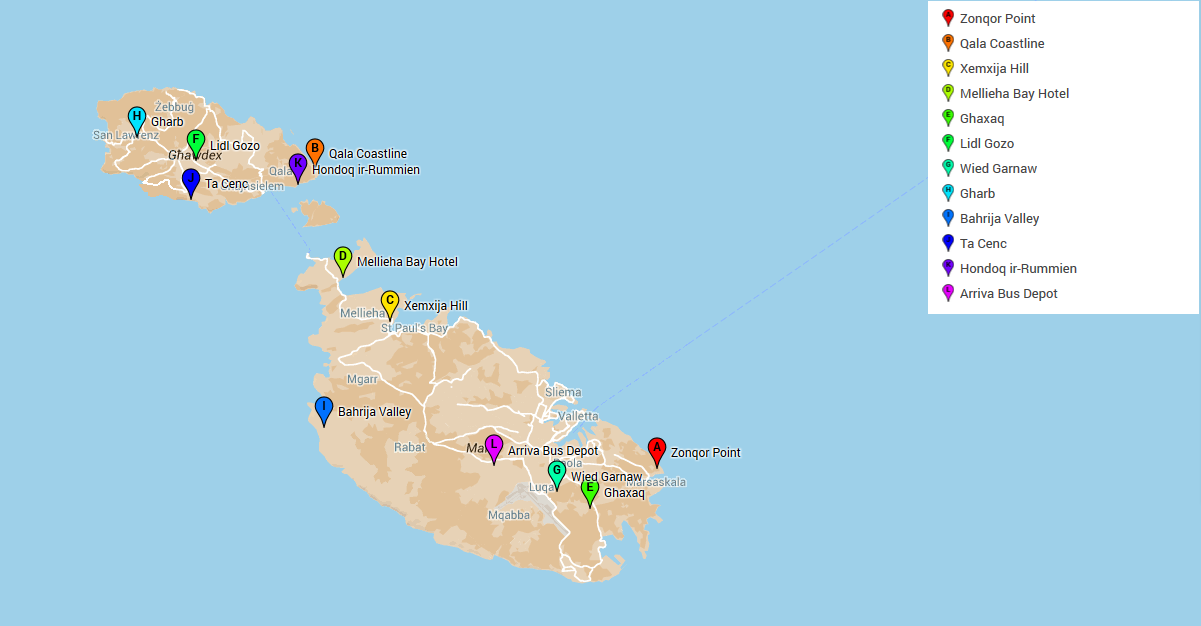 The malting pots guide to odz development in malta the malting pot odz map sciox Image collections